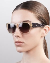 Marc By Marc Jacobs - Leopardpattern Square Sunglasses Beige - Lyst