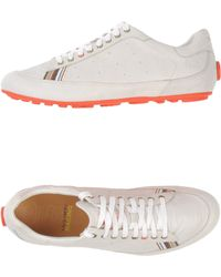 Paul Smith Leather Sneakers with Orange Sole - Lyst