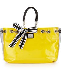 Gianfranco Ferré - Striped Shoulder Bag Yellow - Lyst