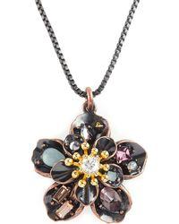 Juicy Couture - Antiqued Pendant Necklace - Lyst