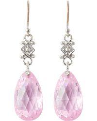 Judith Ripka - Twinkle Pink Crystal Earrings - Lyst