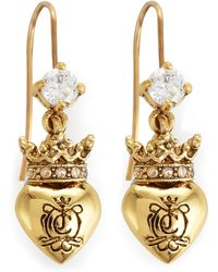 Juicy Couture - Royal Heart Drop Earrings - Lyst