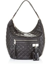 L.A.M.B. - Lucille Quilted Hobo Jet - Lyst