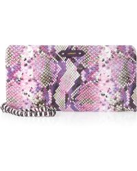 orYANY - Willow Snake Printed Clutch Rose - Lyst