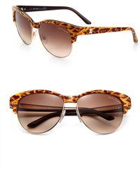 Roberto Cavalli Melograno Animal Print Sunglasses - Lyst
