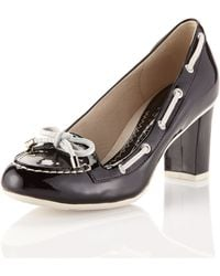 Sperry Top-Sider Patent Leather Loafer Pump - Lyst
