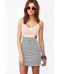 Nasty Gal Seeing Stripes Cutout Dress - Lyst