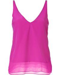 Tibi Magenta Silk Camisole Top - Lyst