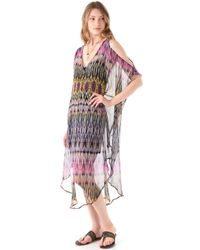Twelfth Street Cynthia Vincent - Cold Shoulder Maxi Caftan Dress - Lyst
