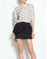 Zara Shirt with Gold Tipped Collar - Lyst
