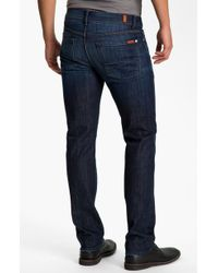 7 For All Mankind 'Slimmy' Slim Straight Leg Jeans - Lyst