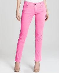 Alice + Olivia Jeans Five Pocket Skinny in Neon Pink - Lyst