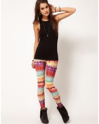 ASOS Collection  Leggings in Bright Ombre Print - Lyst