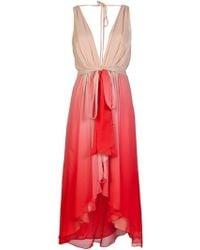 Haute Hippie Ombre Dress pink - Lyst