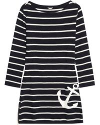 J.Crew - Maritime Striped Cotton Jersey Dress - Lyst