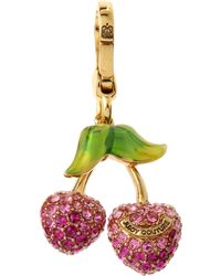Juicy Couture - Golden Pave Cherry Charm - Lyst