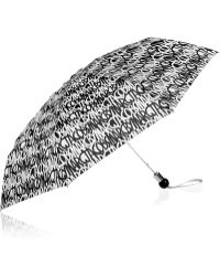 Marc By Marc Jacobs Linear Logo Printed Compact Umbrella - Lyst