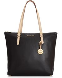 Michael Kors Large Jet Set Soft Venus Top Zip Tote - Lyst