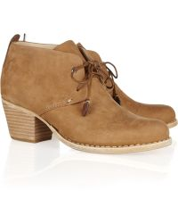 Rag & Bone Leighton Nubuck Leather Ankle Boots - Lyst