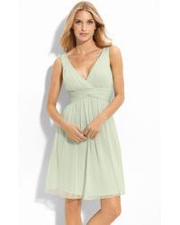 Donna Morgan 'Jessie' Twist Waist Chiffon Dress - Lyst