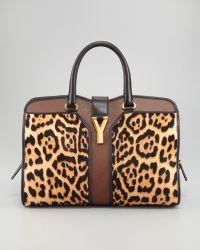 Saint Laurent Leopard Print Chyc Ew Bag - Lyst