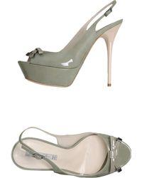 Grey Mer Platform Sandals - Lyst