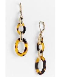 Ak Anne Klein Belden Place Double Link Earrings - Lyst