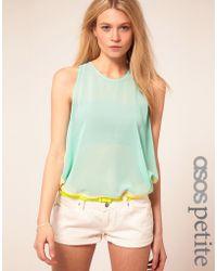ASOS Collection  Colour Block Sheer Top - Lyst