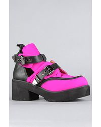 Jeffrey Campbell The Coltrane Boot in Fuchsia Neon and Black - Lyst