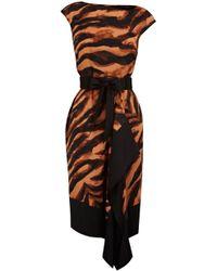 Karen Millen Soft Zebra Tie Dye Print Dress animal - Lyst