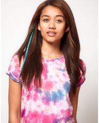 River Island - Two Pack Pink and Blue Feather Hair Pieces - Lyst
