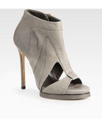 Camilla Skovgaard Cutout Leather Platform Ankle Boots - Lyst