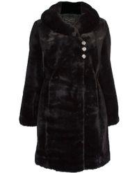 Ann Harvey - Black Faux Fur Coat - Lyst