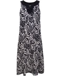 Ann Harvey Floral Print Linen Maxi Dress - Lyst