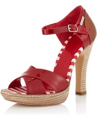 Gianfranco Ferré - Fdadb Anklestrap Pump Red - Lyst