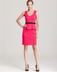 Nanette Lepore Dress Sleeveless Marmalade with Peplum - Lyst