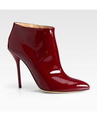 Gucci Noah Patent Leather Ankle Boots - Lyst