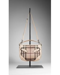 Burberry Small Smoked Check Crossbody Bag - Lyst