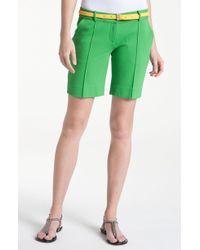 Diane von Furstenberg New Boymuda Seam Front Shorts - Lyst
