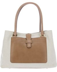 Loro Piana - Bellevue Linen and Leather Bag - Lyst