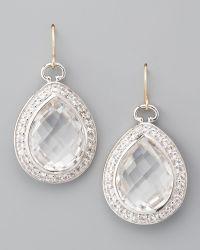 Monica Rich Kosann - Rock Crystal Teardrop Earrings - Lyst