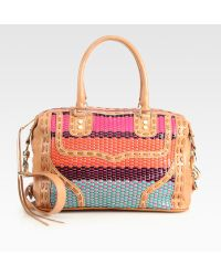Rebecca Minkoff Mac Woven Leather Shoulder Bag - Lyst