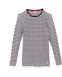 Steven Alan Stripe Long Sleeve Tshirt - Lyst