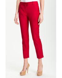 Theory Sienna Wool Stretch Slim Leg Ankle Pants - Lyst