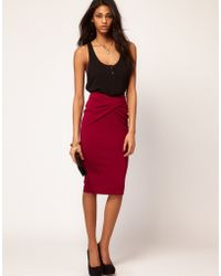 ASOS - Asos Ponti Pencil Skirt with Twisted Waistband - Lyst