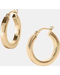 Argento Vivo Small Hoop Earrings gold - Lyst