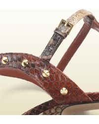 Gucci Jacquelyne Studded Strappy High Heel Platform Sandal - Lyst