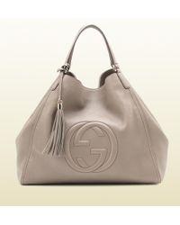 Gucci Twill Leather Large Shoulder Bag Splash 58