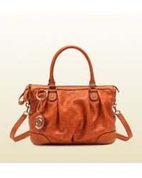 Gucci - Sukey Leather Top Handle Bag - Lyst