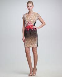 Peter Som - Leopard Flowerprint Dress - Lyst
